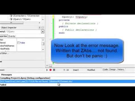 tutorial rave reports delphi 2010 delphi 2010 tutorial how to install zeos component youtube