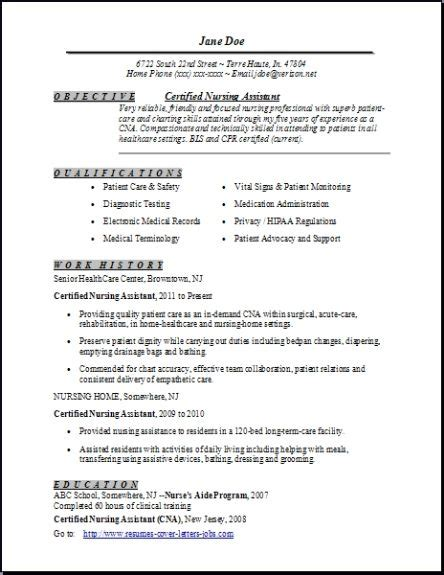 free certified nursing assistant resume template certified nursing assistant resume exles sles free edit with word