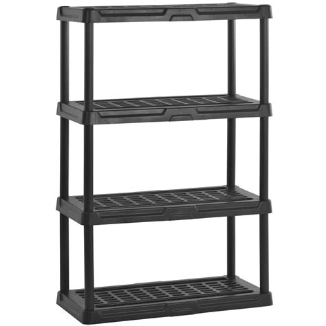 Plastic Bookshelf heavy duty plastic shelving four shelf in heavy duty