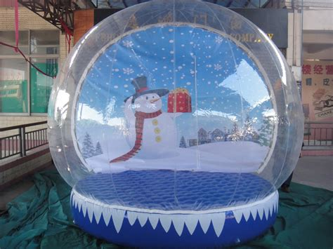 hot sale inflatable christmas yard snow globes for outdoor