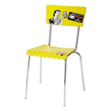 chaise vintage jaune r 233 clam maisons du monde
