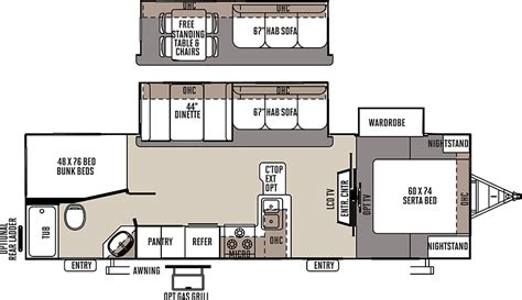Flagstaff Travel Trailer Floor Plans by Access Rv