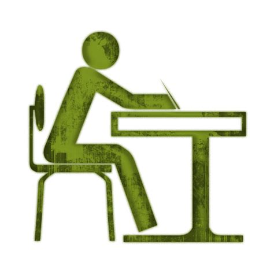 green student desk student at desk desks icon 063418 187 icons etc