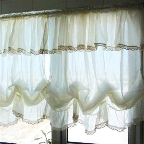 white balloon curtains balloon shade