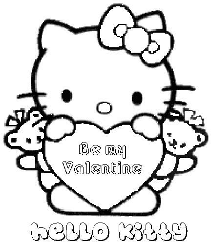 Hello Kitty Coloring Pages For Valentines Day | hello kitty valentines coloring pages hello kitty forever