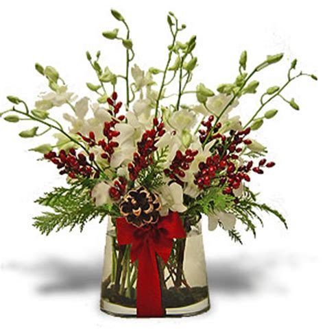 Floral Centerpieces Christmas - christmas orchids