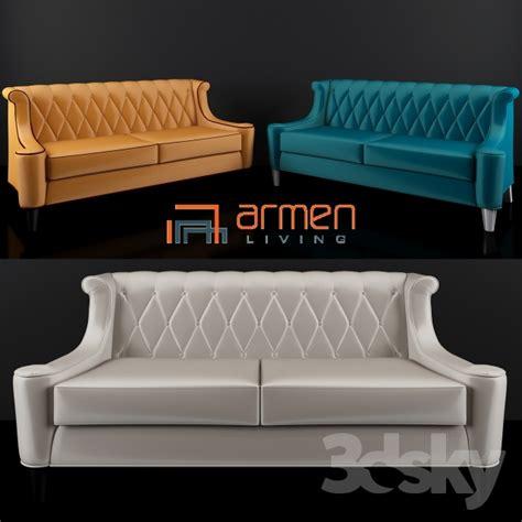 armen living barrister sofa blue 3d models sofa armen living barrister velvet sofa