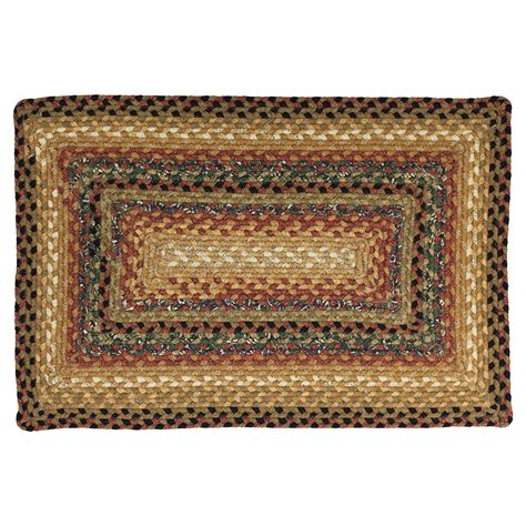 peppercorn primitive cotton braided area throw rug oval