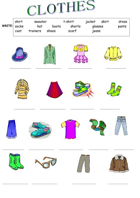clothes matching worksheets clothes interactive worksheet