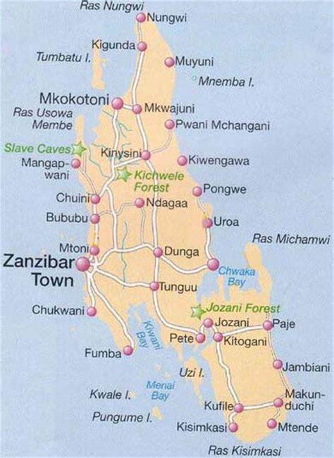 zanzibar map zanzibar map