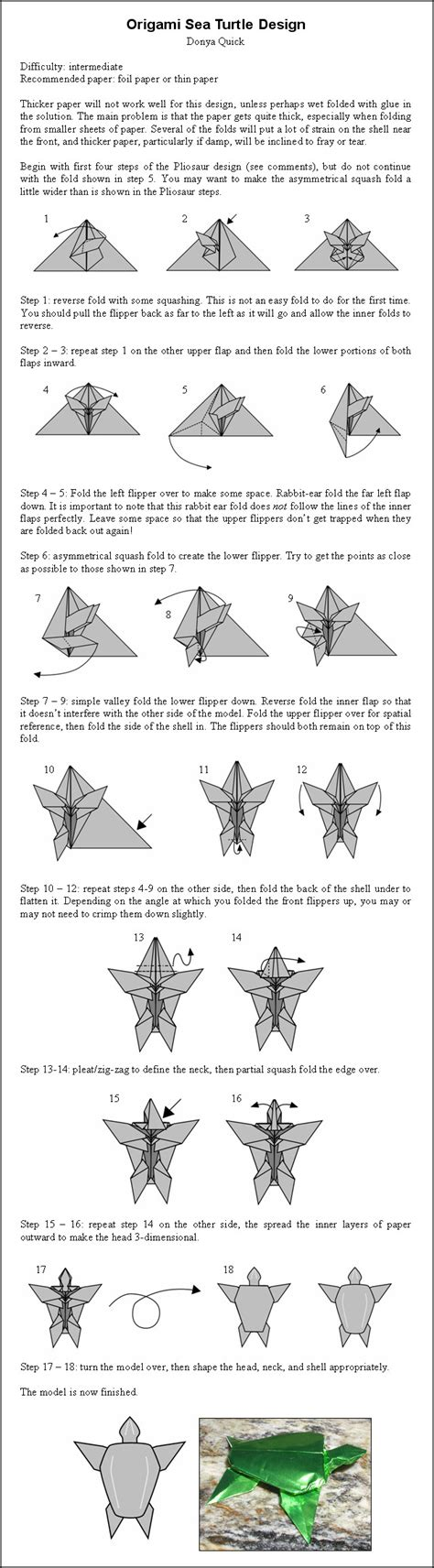 How To Make A Origami Turtle - origami sea turtle instr by donyaquick on deviantart