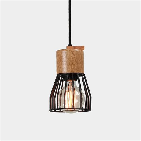 Timber Concrete Metal Cage Pendant Light Pendant Light Metal Cage Pendant Light
