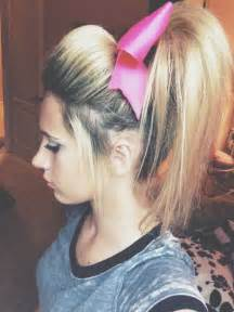 cheer hairstyles with bow collections