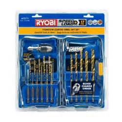 home depot drill set ryobi speedload plus titanium drill bit set 17