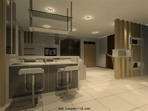bar counter interior design residential living