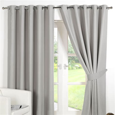 Luxury Blackout Curtains Ring Top Fully Lined Pair Eyelet Ready Made Curtains Luxury Thermal Blackout Ebay
