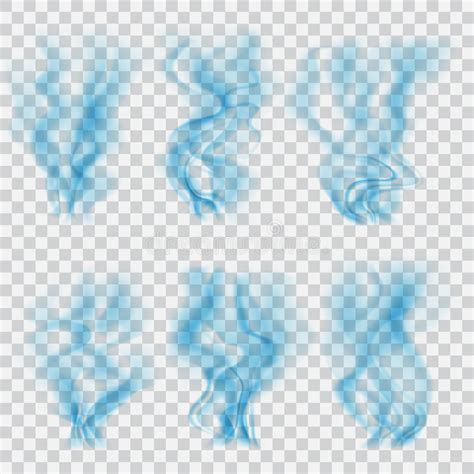 does eps format support transparency set of translucent blue smoke transparency only in vector