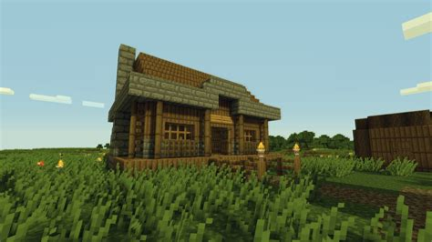 Lovely Small Beach House #1: Amazing-Minecraft-Small-Village-House.jpg