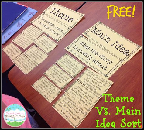 reading themes skills teaching main idea vs theme blog entry free and blog