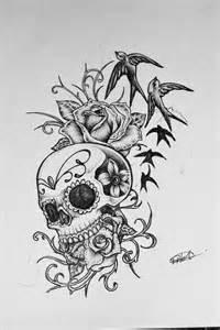 Sugar skull tattoo design photos