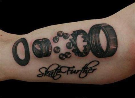 skater tattoos blown out bearing skating sweetness
