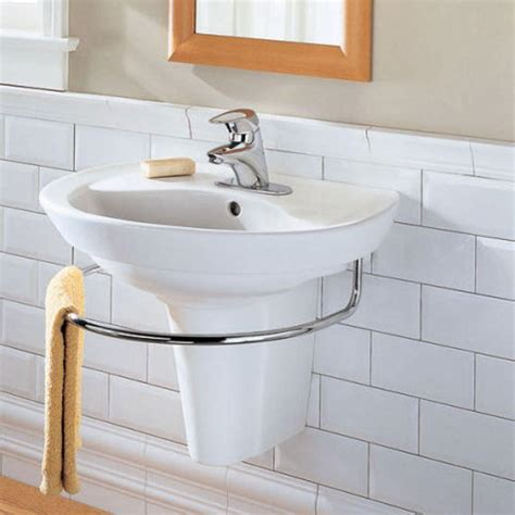 wall mounted sinks for small bathrooms american standard ravenna semi pedestal bathroom sink leg