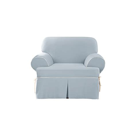 duck sw chair sure fit cotton duck chair slipcover sky blue