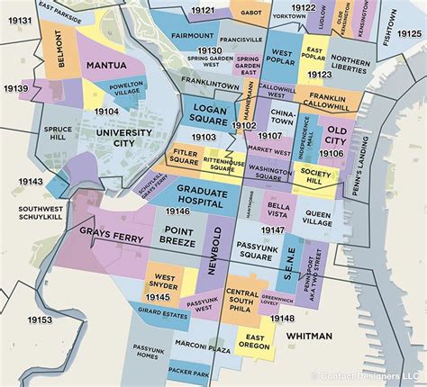 map of philadelphia philadelphia map by neighborhood
