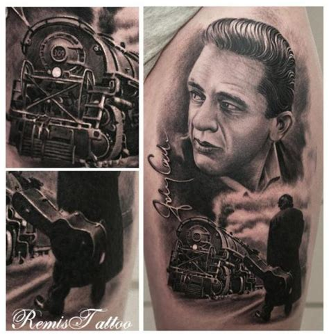 train to remove tattoos shoulder portrait realistic by remis tatooo