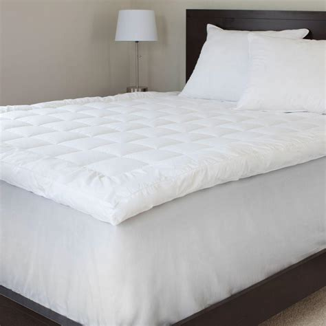 down bed topper lavish home queen size 3 in down alternative mattress