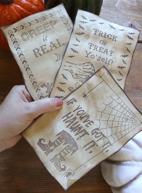 how to make a age card how to age paper with coffee make spooky cards