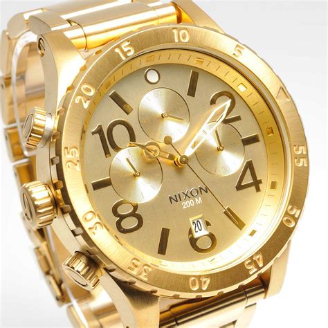 new nixon mens 48 20 chrono all gold a486 502