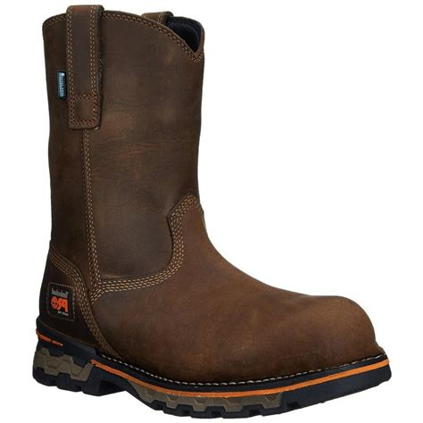 pull on work boots timberland mens ag alloy toe pull on work boots 1053a