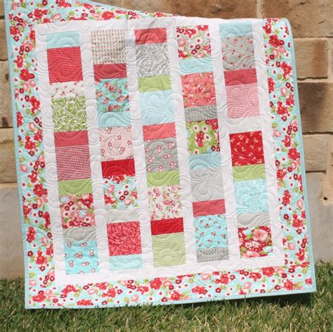 How To Make A Crib Quilt by Baby Quilt Ruby Pink Aqua Blanket Nursery Crib