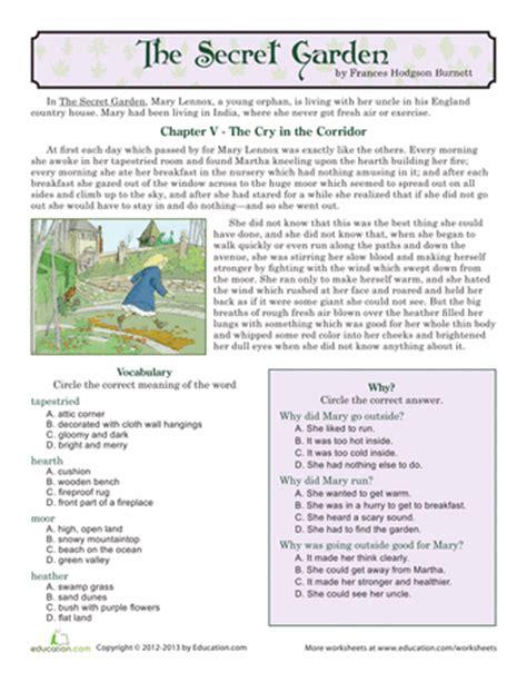 Secret Garden Answers Reading Comprehension The Secret Garden Reading