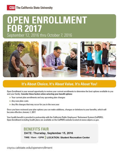 Open Enrollment California State University Bakersfield Open Enrollment Template