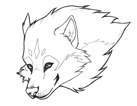 free coloring pages of scary wolf