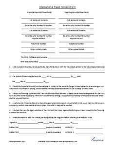 consent letter for child observation printable travel journal for familyeducation