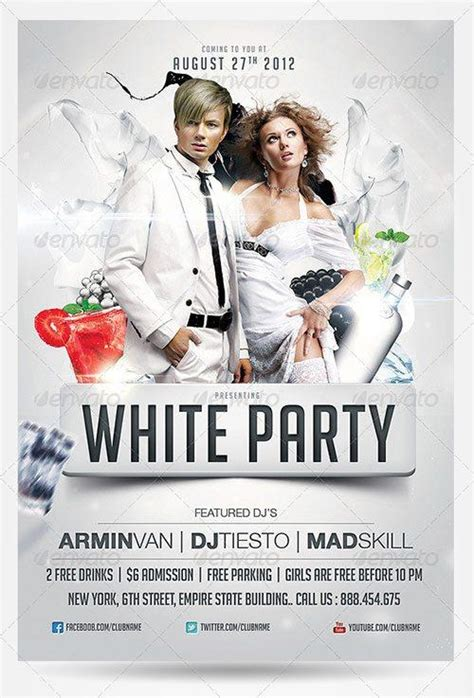 Top 10 Best White Psd Flyer Templates White Flyer Template