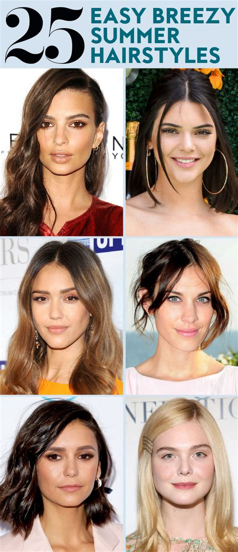 Easy Summer Hairstyles by 25 Easy Hairstyles To Wear For Summer Instyle