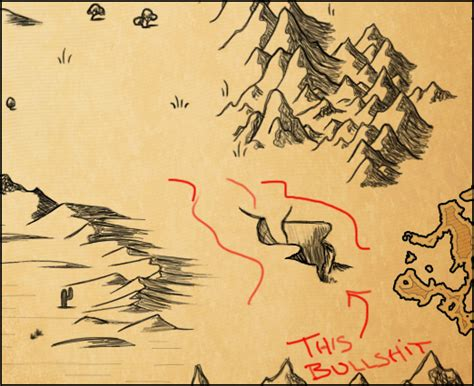 how to draw a map an impossible time drawing recessed canyons and valleys