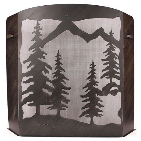large fireplace screen large pine tree fireplace screen
