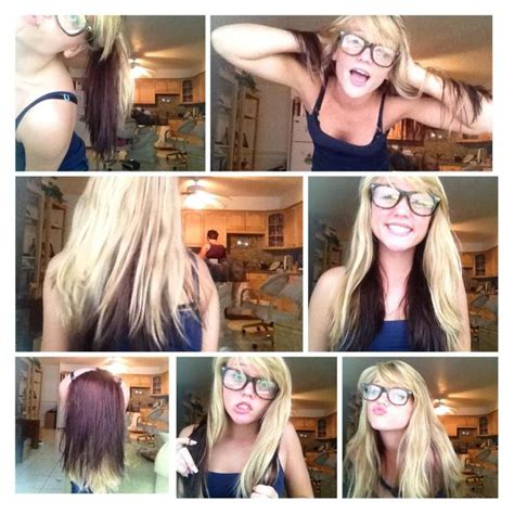 how to do blonde on top and brown underneath blonde on top dark brown on bottom how i want my hair to
