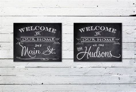 Personalized Family Front Door Welcome Sign Customized Personalized Front Door Welcome Signs