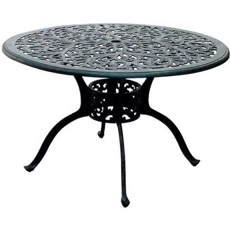 darlee series 80 48 inch cast aluminum round patio dining