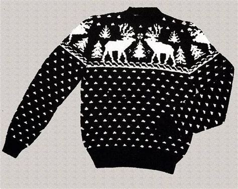 knitting pattern reindeer christmas jumper vintage reindeer and xmas tree sweater vintage knitting