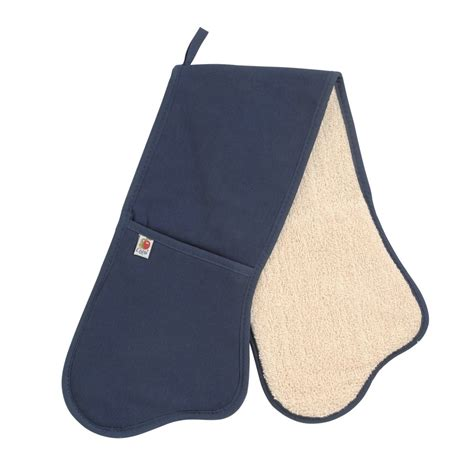 navy blue personalised oven gloves