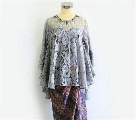 Okana 7 Baju Outerwear Wanita ッ 24 model kebaya batik modern wanita untuk pesta lengan