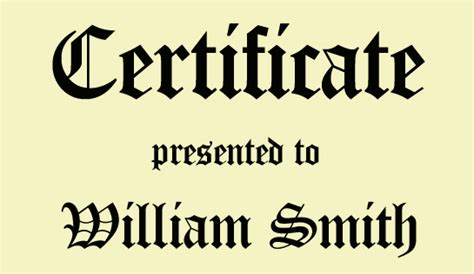 Certificate Letter Font Font Of The Week
