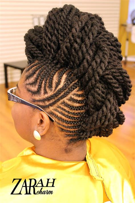 Mohawk Braiding Hairstyles by Cornrow Mohawk Small Braids Zarahcharm